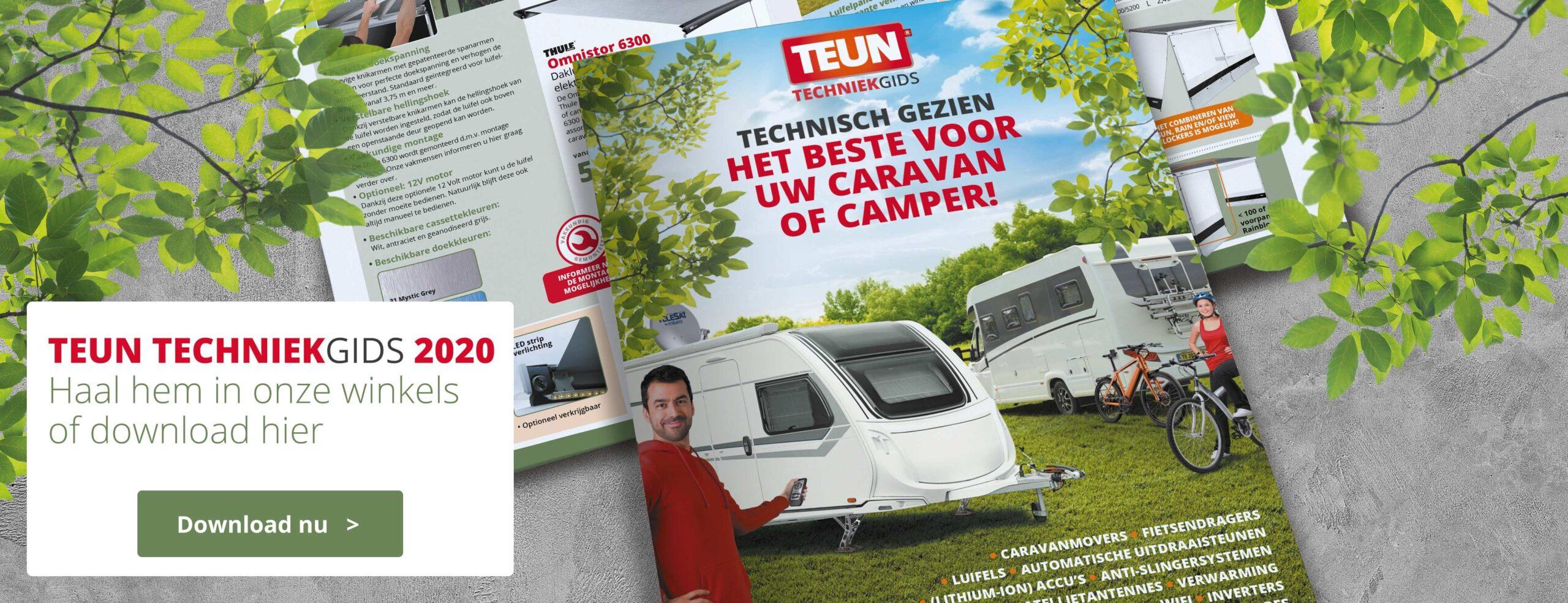 TEUN Techniek gids, technische folder, TEUN, kampeerwinkel, De Vossenhoek, Koopzondag